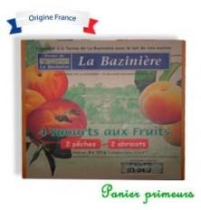 Yaourt fermier Pêches Abricots par 4